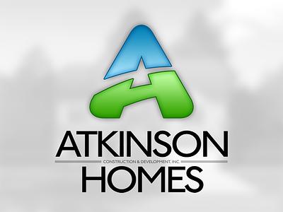 Atkinson Homes Logo logo mark branding identity logo design identity design illustration brand design blue green
