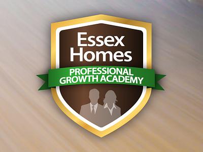 Growth Academy Badge illustration design branding icon badge homebuilder academy training silhouette