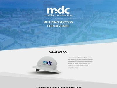 M. Dillon Construction Website real work real project website ux ui branding website design responsive web development web design web