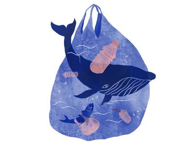 Surfrider Foundation Sofia 2018 save sea texture fish animals water nature ocean plastic tote bag