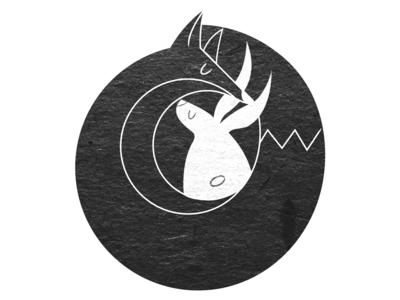 Fox&Rabbit photography animal yin yang simple texture rabbit fox logo