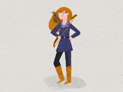 lady girl illustration texture brush photoshop adobe character adventure