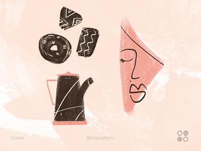 Style atom - Cocoa cocoa design dribbble texture illustration