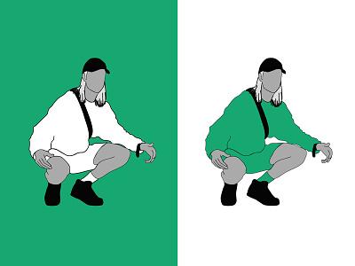 Fricky_2 debut dribbble illustrator svensk sweden music graphic illustration design fricky