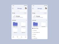 Cloud Drive Storage Mobile UI