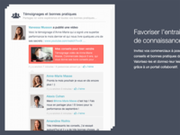 Sharing media in a conversation (Landing page design 2014)