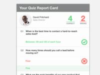 Quiz report card