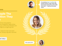Recognition (Landing page design 2013)