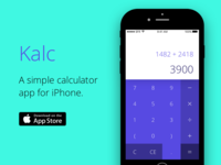 Kalc - A simple calculator for iPhone