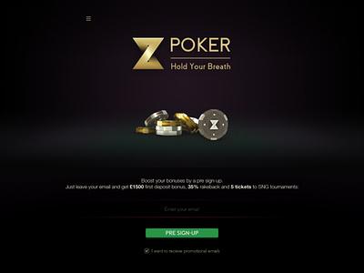 Z Poker site zpoker site logo web ux design ui