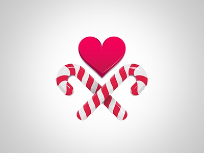 Gift Sticks Heart sticks candy newyear gift sugar heart