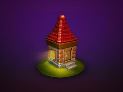 Fairytale House house zbrush photoshop illustration