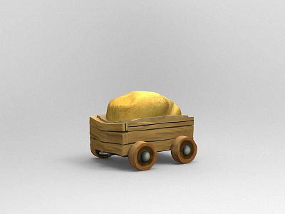 Cart object modelling zbrush cart