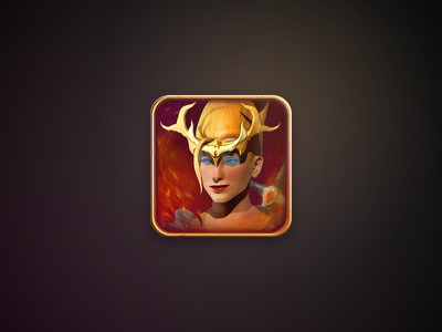 Icon Preview game app crown girl icon