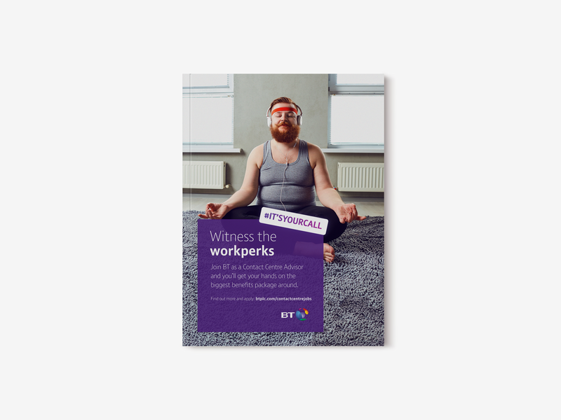 BT It's your call advertising campaign advertising agency workperks itsyourcall print ad bt advertising print