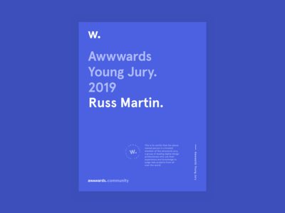Awwwards Young Jury 2019