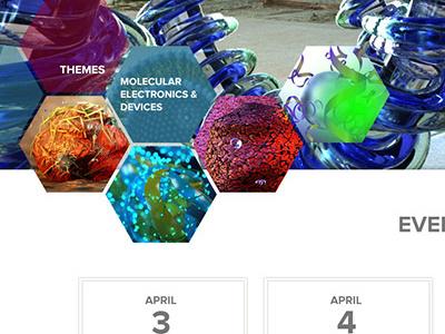 Molecular Engineering Mockup hexagon navigation