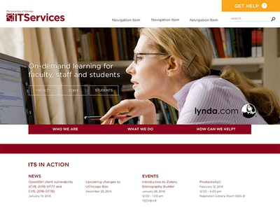UChicago ITS Homepage Redesign pt1