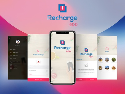 Free Recharge App UI/UX Concept