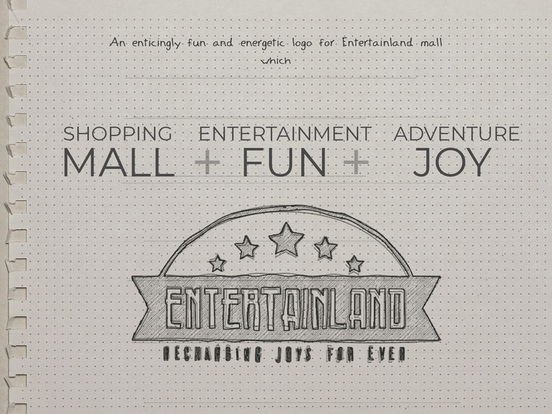 Entertainland Mall - A logo design process logo inspirations logodesign logo typography illustration branding inspiration