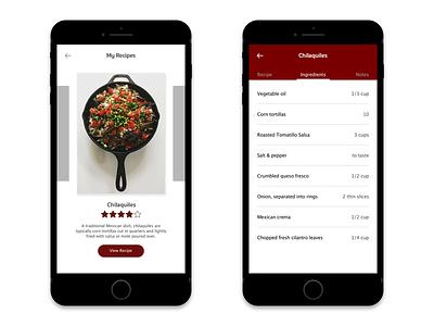 Daily UI 040 - Recipe interface mobile recipe 040 daily ui