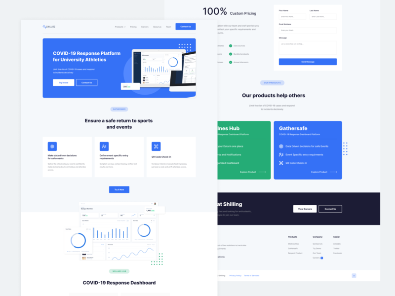 Shilling | Landing Page Redesign minimal features landing page pricing web ux material flat digital design clean app