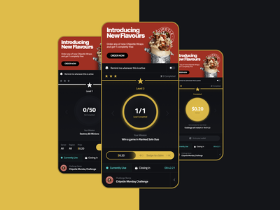 Esport Challenge Screens illustration branding web ux material flat digital design clean app
