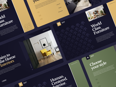 Interiors Comapny Deck ui logo illustration ux material flat digital design clean app