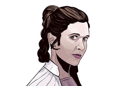 "SIX FANARTS - ""LEIA"" star wars inking sixfanart character design illustration princess leia"