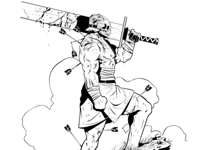 "CHARACTER DESIGN - ""The Godkiller"" traditional 2d illustration inking character design comics character monster god"