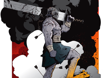 "CHARACTER DESIGN - ""The GODKILLER"" patreon reward patreon character design characters painting inking illustration comic book monster comics god"