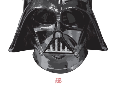 "Commission - ""Darth Vader"" character design inking painting illustration villains darth vader commission star wars"