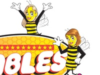 """PRINT - LOGO for """"THE BUMBLES"""" band."""