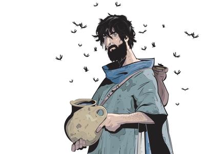 "CHARACTER DESIGN - ""John The Baptist"" characters bible character design comics comic book inking painting illustration god"