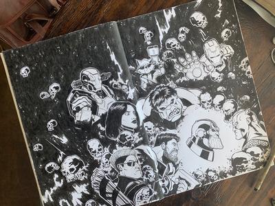 """SKETCHBOOK - """"Avengers:Endgame"""" Poster characters character design sketch sketchbook comics comic book superheroes illustration avengers:endgame avengers"""