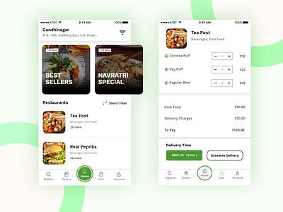 Food Delivery App branding zignuts groceries order shopping appdesign mobile app application design app design ux ui