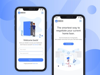 Finance web Mobile View homepage sign in home loan loan banking finance mobile view responsive design webdesig website ux ui zignuts