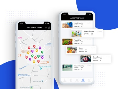 Butler App android app ios app development navigation location app nearby helping service provider owner task list delivery app design appdesign ux ui zignuts