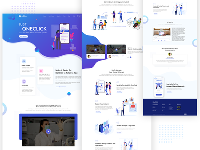 Dentist Website branding illustration web design website design dentist westite