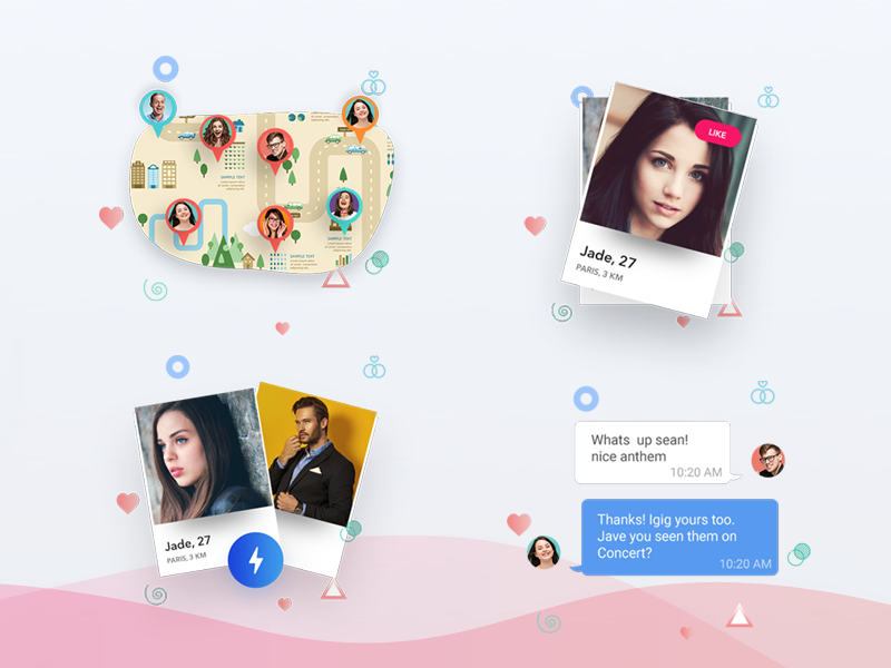 Dating Icons & Illustrations zignuts graphics icons dating app