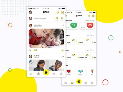 Scool2 classroom parents app teacher zignuts ui ux logo design student app education app schoolapp appdesign