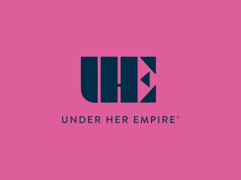 Under Her Empire branding women pink freelance designer design typography graphic design vector logodesign