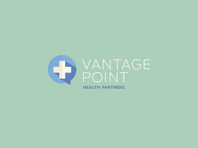 Vantage Point Logo health center vector flat health care corporate cross branding brand logo health