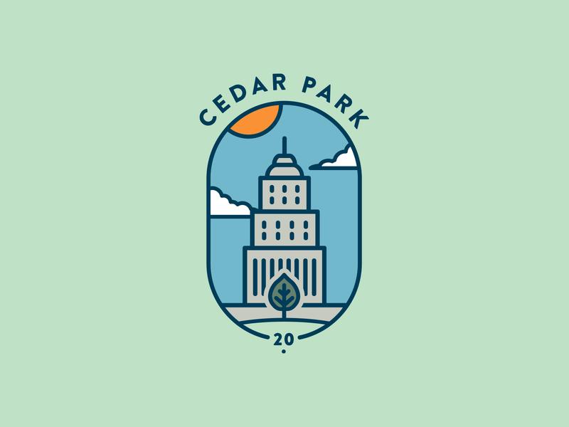 CedarPark Logo Exploration freelance design badge park freelance designer logo design icon vector flat logo