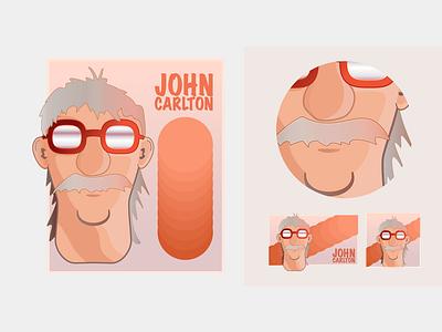 John Carlton Illustration vector personal logo branding design illustration