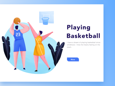 Playing Basketba