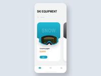 Ski equipment concept Animation