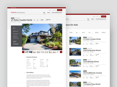 Stanford University Faculty Staff Housing price yard house filters for sale website builder school teacher campus home webapp university bay stanford product design website property search property real estate typography
