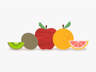 Fruit game leaf picnic illustration food slice fruit grapefruit apple kiwi atendesigngroup aten