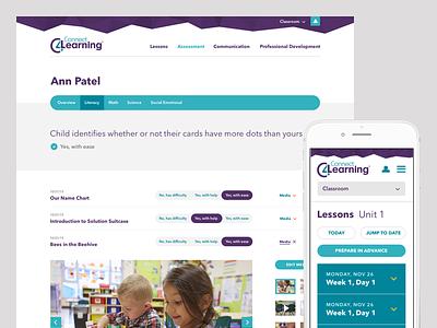 Connect4Learning Platform classroom teacher calendar assessment schedule toggle interface mobile app education website aten